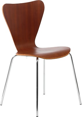 Euro Style™ Tendy Laminated Wood Dining Side Chair, Cherry