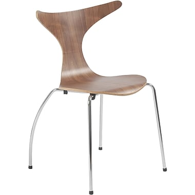 Euro Style™ Frida Laminated Wood Dining Side Chair, Walnut