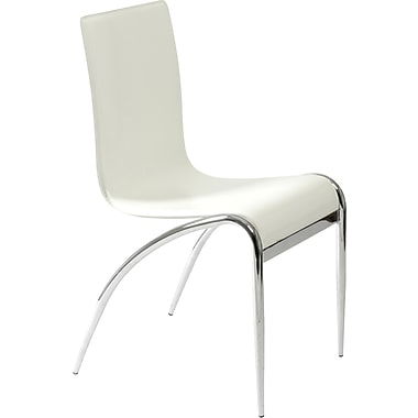 Euro Style™ Grace Leather Dining Side Chair, White
