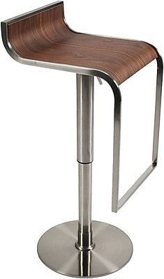 Euro Style™ Forest Wood Veneer Bar/Counter Stool, Walnut