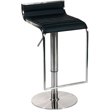 Euro Style™ Forest Leather Bar/Counter Stool, Black