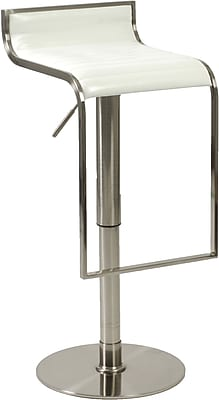 Euro Style™ Forest Leather Bar/Counter Stool, White