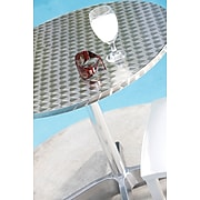 "Euro Style™ Allan 31 1/2"" Round Stainless Steel/Aluminum Bistro Table"