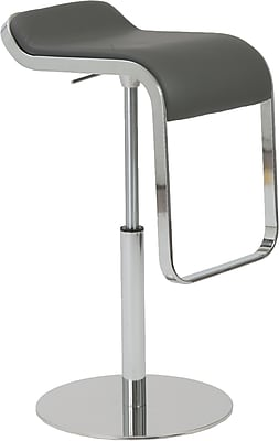 Euro Style™ Freddy Leatherette Bar/Counter Stool, Gray