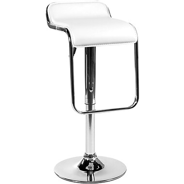 Euro Style™ Furgus Leatherette Bar/Counter Stool, White