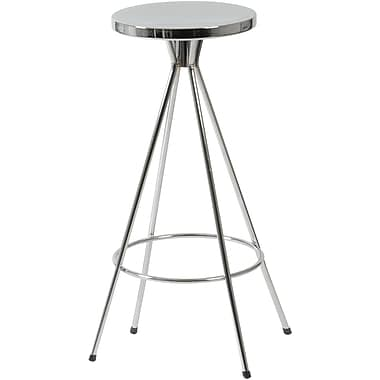 Euro Style™ Caroline-C Chromed Steel Swivel Counter Stool