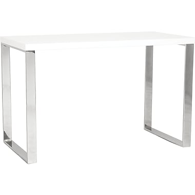 Eurostyle Dillon Standard Writing Desk, White Lacquer (09815WHT)