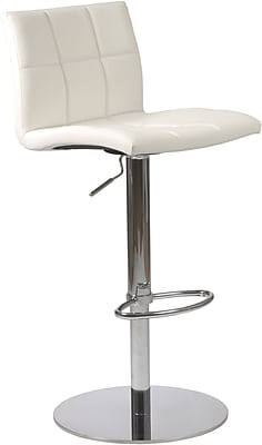 Euro Style™ Cyd Leatherette Bar/Counter Stool, White