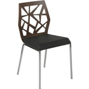 Euro Style™ Sophia Leatherette Dining Side Chair, Walnut/Black