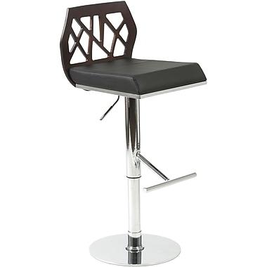 Euro Style™ Sophia Leatherette Bar/Counter Stool, Black/Wenge