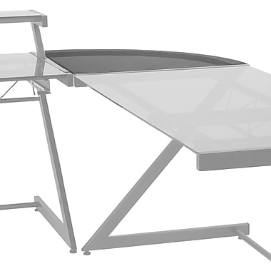 Euro Style™ Steel Frame Glass Top Z Deluxe Corner, 30