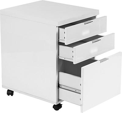 Eurostyle Gilbert 5 Drawer Mobile/Pedestal File, White,Letter/Legal, 16.5''W (27536WHT)
