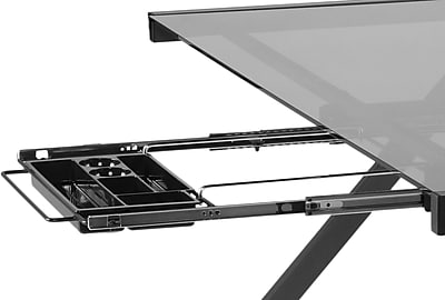Euro Style™ L Hanging File and Pencil Tray, Black Graphite
