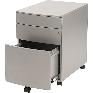Euro Style™ Floyd Steel File Cabinet, Silver