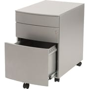 Euro Style Floyd Steel File Cabinet Silver