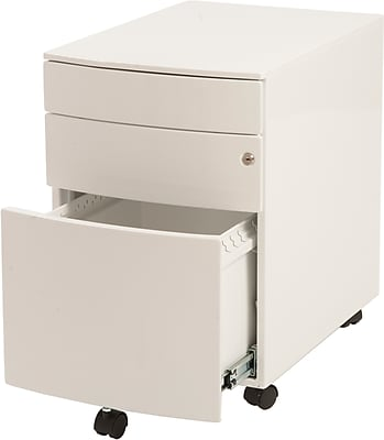 Euro Style™ Floyd Steel File Cabinet, White