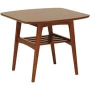 "Euro Style™ 23 1/2"" Carmela Square MDF Side Table, Walnut"