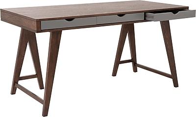 Eurostyle Daniel Standard Writing Desk, Walnut (34035WAL)