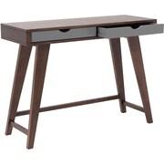 "Euro Style™ Daniel 30"" x 40"" x 14 1/2"" MDF Veneer Console Table, Walnut/Gray"