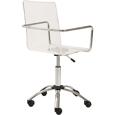 Euro Style™ Chloe Acrylic Office Chair, Clear