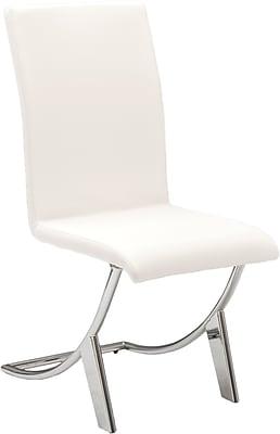 Euro Style™ Armless Cordelia Side Chair, White (80950WHT)