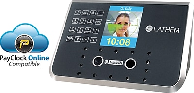 Lathem 50 Employees Face Recognition Biometric Time and Attendance System (FR650)