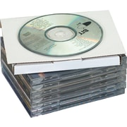 """The Packaging Wholesalers 5-13/16"""" x 5"""" x 1/2"""" CD Jewel Case Corrugated Mailer, Holds 1 CD"""