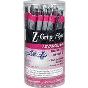 Zebra Pen Z-Grip Flight Retractable Ballpoint Pens, Bold Point (1.2mm), Pink, 36/Pk (ZEB 92208)