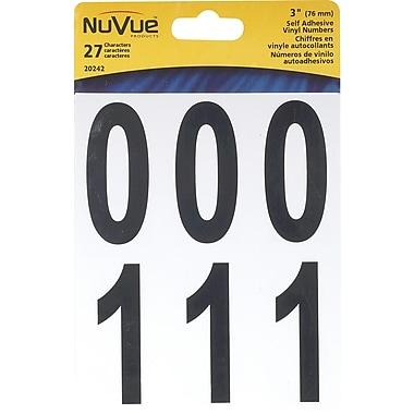 NuVue - Ensemble de chiffres en vinyle variés, noir, 270 caractères/ensemble