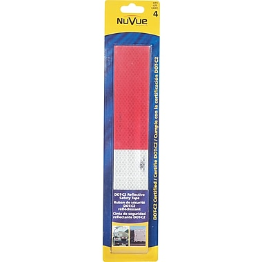 NuVue Red & White DOT-C2 Reflective Tape, Repeating Pattern, 2