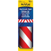 "NuVue Red & White Barricade Stripe, 3"" x 5' Roll"