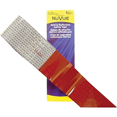 NuVue Red & White DOT-C2 Reflective Safety Tape, 2