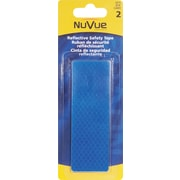 "NuVue Blue Reflective Tape, 1 1/2"" x 4 1/2"" Rectangles, 12/Set"