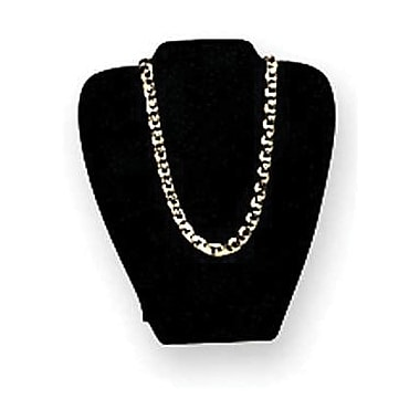 Velvet Necklace Easel Display, Black