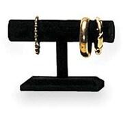 Single Tier Velvet T-Bar Display, Black
