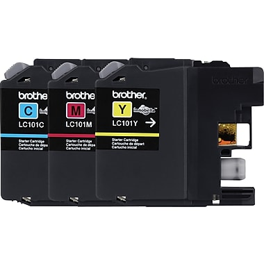 Brother – Cartouches d'encre couleur LC101 (cyan, magenta, jaune) paq./3 (LC1013PKS)