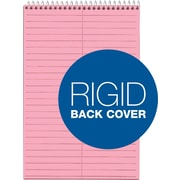 "TOPS® Prism Steno Pad, 6"" x 9"", Gregg Rule, Pink, 100% Recycled, 80 Sheets, 4/Pack (80254)"