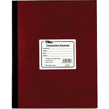 TOPS® Computation Glue Notebook, 11 3/4