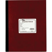 "TOPS® Computation Glue Notebook, 11 3/4"" x 9 1/4"", Quad Ruling, 75 sheets"