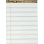 "Second Nature® Legal Notepad, 18 lb, White, Recycled, 50 Sheets/Pad, 12 Pads/Pack, 8-1/2"" x 11-3/4"""
