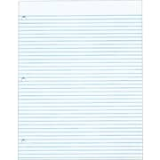 "TOPS® The Legal Pad Notepad, 8-1/2"" x 11"", Narrow Rule, White, Gum Top, 3-Hole Punched, 50 Sheets/Pad, 12 Pads/Pack (7521)"