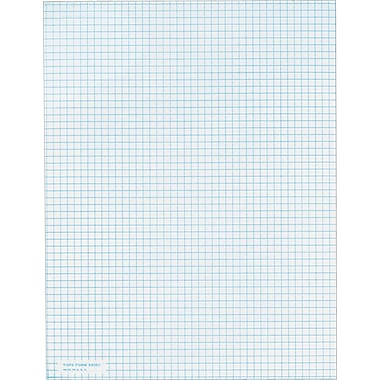 Quadrille Notepad, White, 5 Sq/In, 20 lb, 50 Sheets/Pad, 8-1/2