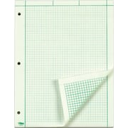 "TOPS™ Engineering Computation Pad, Gum-Top, 8 1/2"" x 11"", Quad Rule (5 x 5), Greentint Paper, 100 SH/PD"