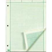 "TOPS® Engineering Computation Pad, Green Tint, Quad Ruled, 8 1/2"" x 11"", 200 Sheets/Pad, 1/Ea"