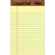 "TOPS® The Legal Pad Writing Pad Narrow Ruled 5"" x 8"" Canary 50 Sheets, 12/Pack (TOP7501)"