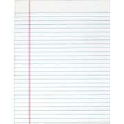 "TOPS® The Legal Pad Notepad, 8.5"" x 11"", Legal Rule, White, 50 sheets/Pad, 12 Pads/Pack (7523)"