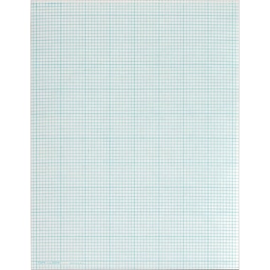 TOPS® Cross Section Pad, White, Quad Ruled, 8 1/2