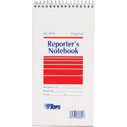 "TOPS® Reporter's Wirebound Notebook, 4"" x 8"", Gregg Ruling, 70 sheets, 12/Pack"