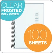 """TOPS® Classified™ Colors Business Wirebound Notebook, College Ruled, White, 8 1/2"""" x 5 1/2"""""""
