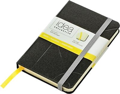 Idea Collective® Mini Hardbound Journal, Wide Rule, Black